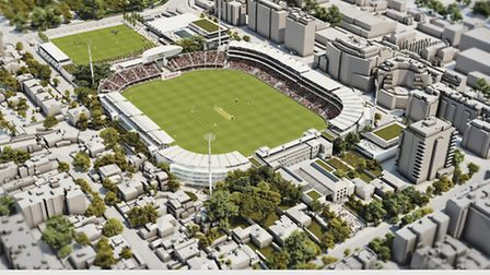A computer-generated image of the master plan for the future of Lord's Cricket Ground agreed earlier