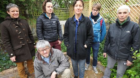Local residents who are angry at the felling of trees at the back of their houses.
