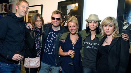 From left to right: Andy Bell, Nicole Appleton, Liam Howlett, owner Gabrielle du Plooy, Natalie Appl