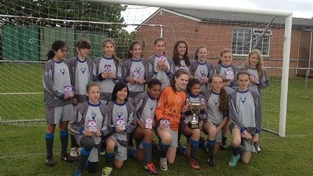 Hampstead's Under-13 girls have won the cup double