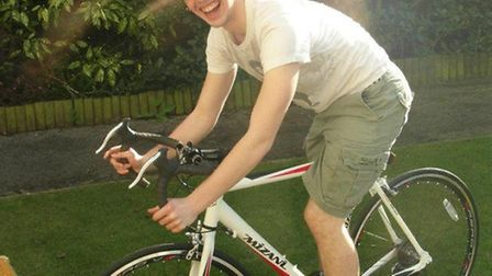Ross on his bike before the theft