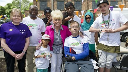 Actress, Barbara Windsor MBE, Big Lunch Ambassador, joined the millions of people across the country