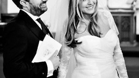 David Mitchell and Victoria Coren were married at St Peter's Church. Picture: Rory Lindsay