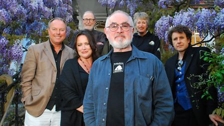 Animals Asia benefit at Burgh House. Pictured: Actor Peter Egan with performers Robert Daws, Amy Rob