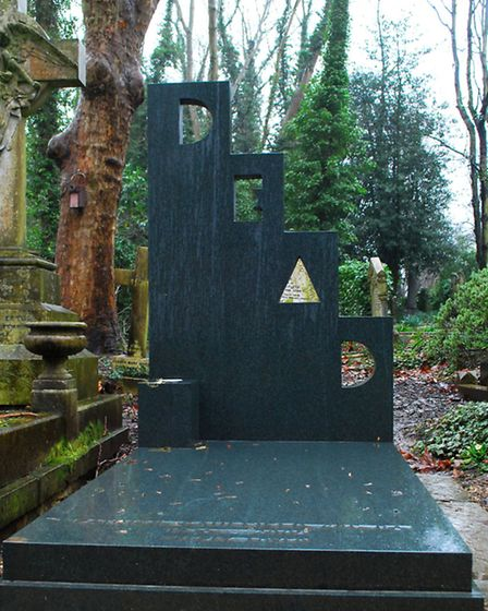 Highate Cemetery, Patrick Caulfield grave. Picture: Polly Hancock