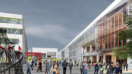 An artist's impression of what iCity will look like