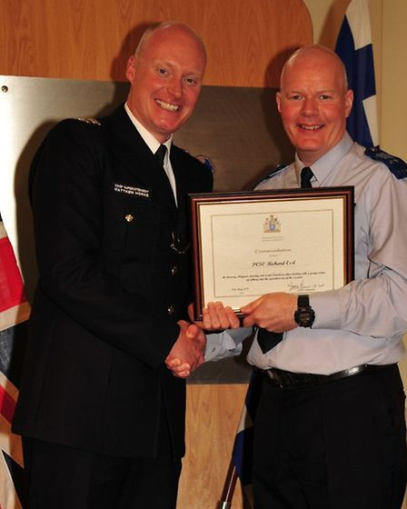PCSO Essl for his bravery, diligence, tenacity and professionalism when dealing with a young victim