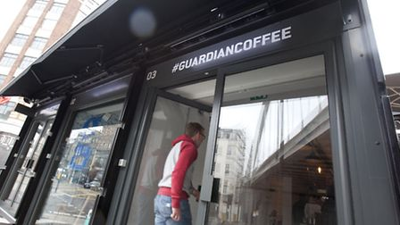 #Guardiancoffee is latest coffee shop to grace Shoreditch. Picture: Graham Turner