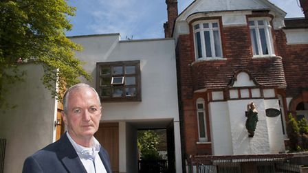 Oliver Froment fears his home could be damaged by the next door neighbour's basement plans. Picture: