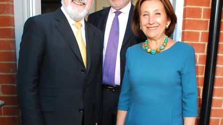 Chief Rabbi, Lord Jonathan Sachs, with Hannah and David Lewis, parents of Catherine Lewis, at the op