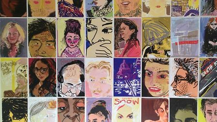 Julie Leonard who makes sketches of fellow tube travellers on her iPhone -