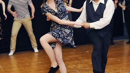 Swing dancers at the Thanet Youth and Community Centre. Picture: Dieter Perry.