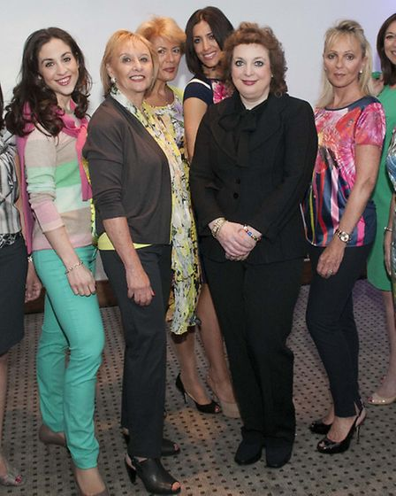 Averyl Trup (centre) pictured with some of the models. Picture: Nigel Sutton.