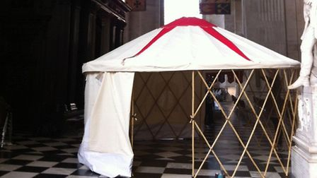 The yurt in St Paul's Cathedral