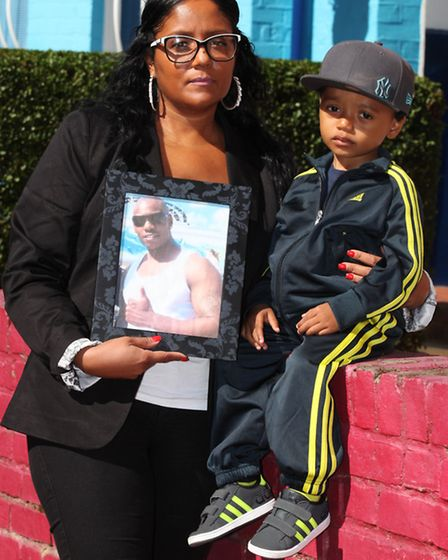Anne Boriel with her child Wayne Jr Powell appeals for more information about the death of her partn