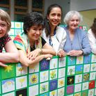 365 doodles of daffodils, representing the 365 days of care per year, went on display at Marie Curie