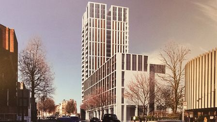 An artist's impression of the proposed development. Picture: Nigel Sutton.
