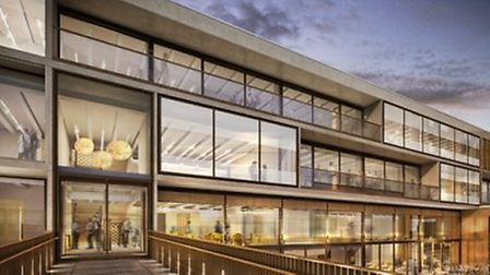 An artist's mock-up of the JW3 building