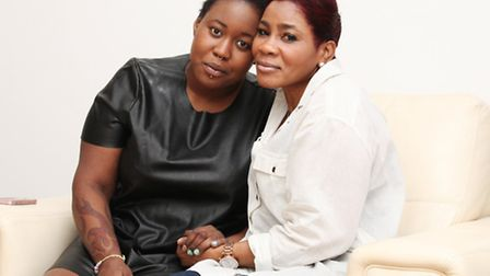 Nadejah Williams,left, and her mother Michelle Campbell-Cairns.