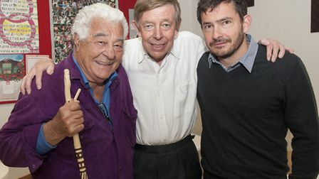 Antonio Carluccio with Henry Kelly and Giles Coren at the Proms at St Jude's Music & Literary Festiv