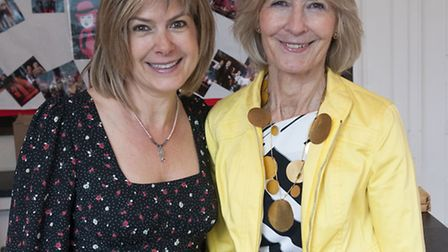 Penny Smith with Sandra Howard at Proms at St Jude's Music & Literary Festival. Picture: Nigel Sutto