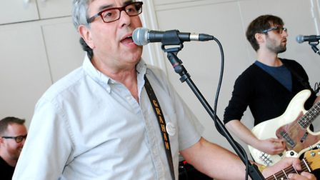 Graham Gouldman of 10cc performs songs at the party. Picture: Polly Hancock.