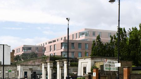 This a North East view of the current scheme