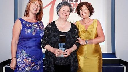 Jane Wernick (centre) at the First Women Awards with Gaynor Coley (left), managing director of The E