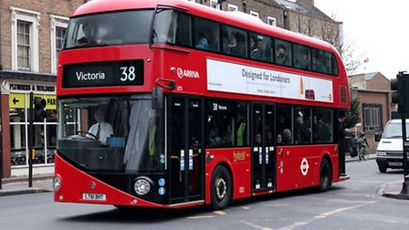 The new Routemaster number 38 bus