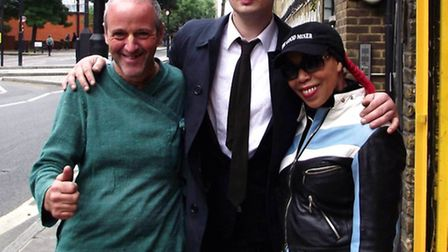 (From left) Peter O'Grady, director of charity Food for All, Pete Doherty, and Jennie Matthias, mana