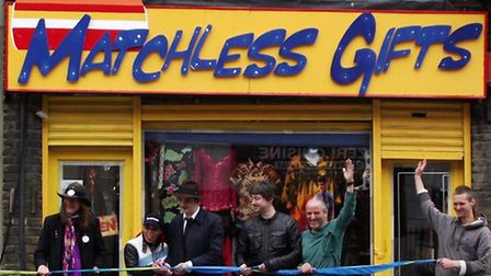 Pete Doherty at the opening of Matchless Gifts charity shop