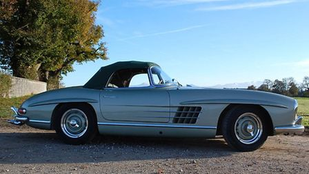 Clark Gable's Mercedes 300SL Roadster is among the cars set for the pageant.