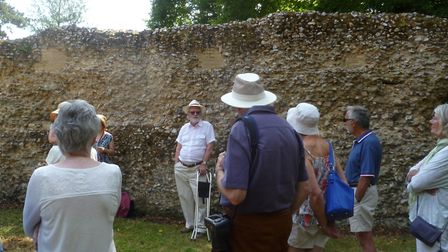 A day of celebration at Blythburgh saw local historian Dr Alan Mackley giving a guided tour of the 1