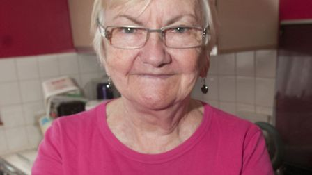 Without the cat litter, Carol Thomas only throws away a margarine container of food waste a week. Pi