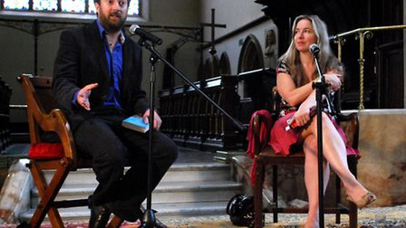 David Mitchell and Victoria Coren open the Arts Week at St Peter's Church in Belsize Square. Picture