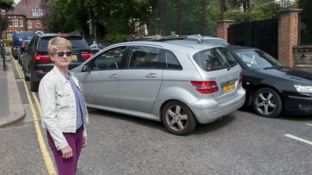 Siobhan Ezra is one of the residents upset by the school run parking chaos in Arkwright Road, Hampst