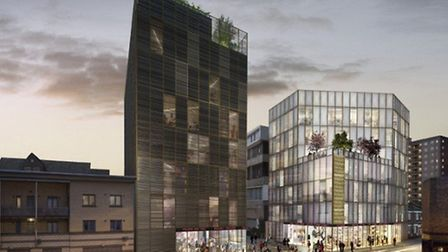 The proposed fashion hub has been designed by architects Adjaye Associates