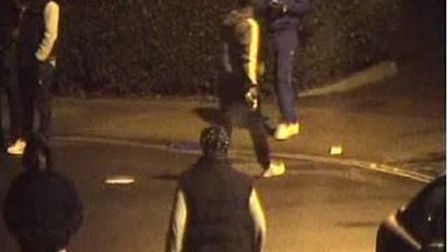 CCTV images of the youths carrying belts