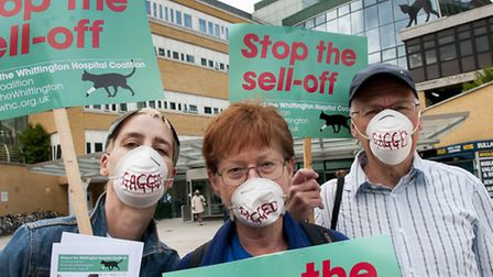 Members of Defend Whittington Hospital Coalition are demanding answers over plans to sell-off hospit