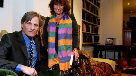 Actor Viggo Mortensen and writer Lisa Appignanesi at the Freud Museum. Picture: Polly Hancock