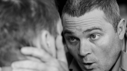 Actor Alex Fearns play British soldier Gary in play Casualties which explores the effect that armed