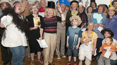 The cast of the play in tribute to philanthropist Angela Burdett-Coutts. Picture: Nigel Sutton