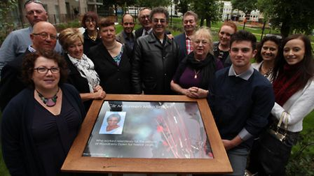 Yvonne Kleinberg, left, and Maureen Middleton's family remember the Hackney councillor with a memori