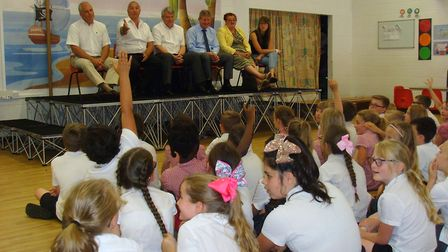 The panel of professionals fielded questions from 45 enthusiastic Year 4 children. Photo: Gunton Pri