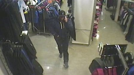 The man police want to speak to in connection with the robbery.