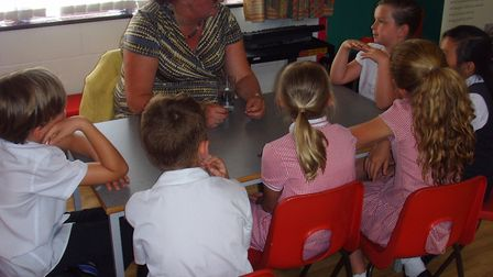 Each professional gave an individual talk to the curious pupils. Photo: Gunton Primary Academy