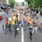 The march down Upper Street, photo Dieter Perry
