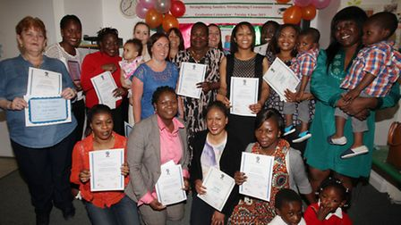 Mothers in Hackney graduate from the Strengthening Families Strengthening Communities programme at t