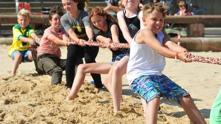 Summer activities for children were held on Lowestoft beach to encourage youngsters to be more activ