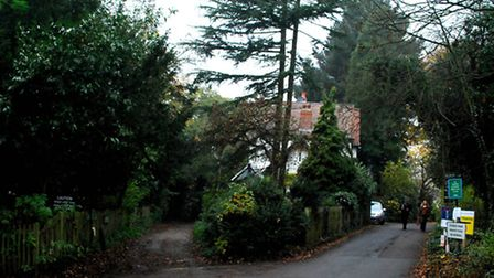Access to the Water House is along the lane on the left. Picture: Polly Hancock
